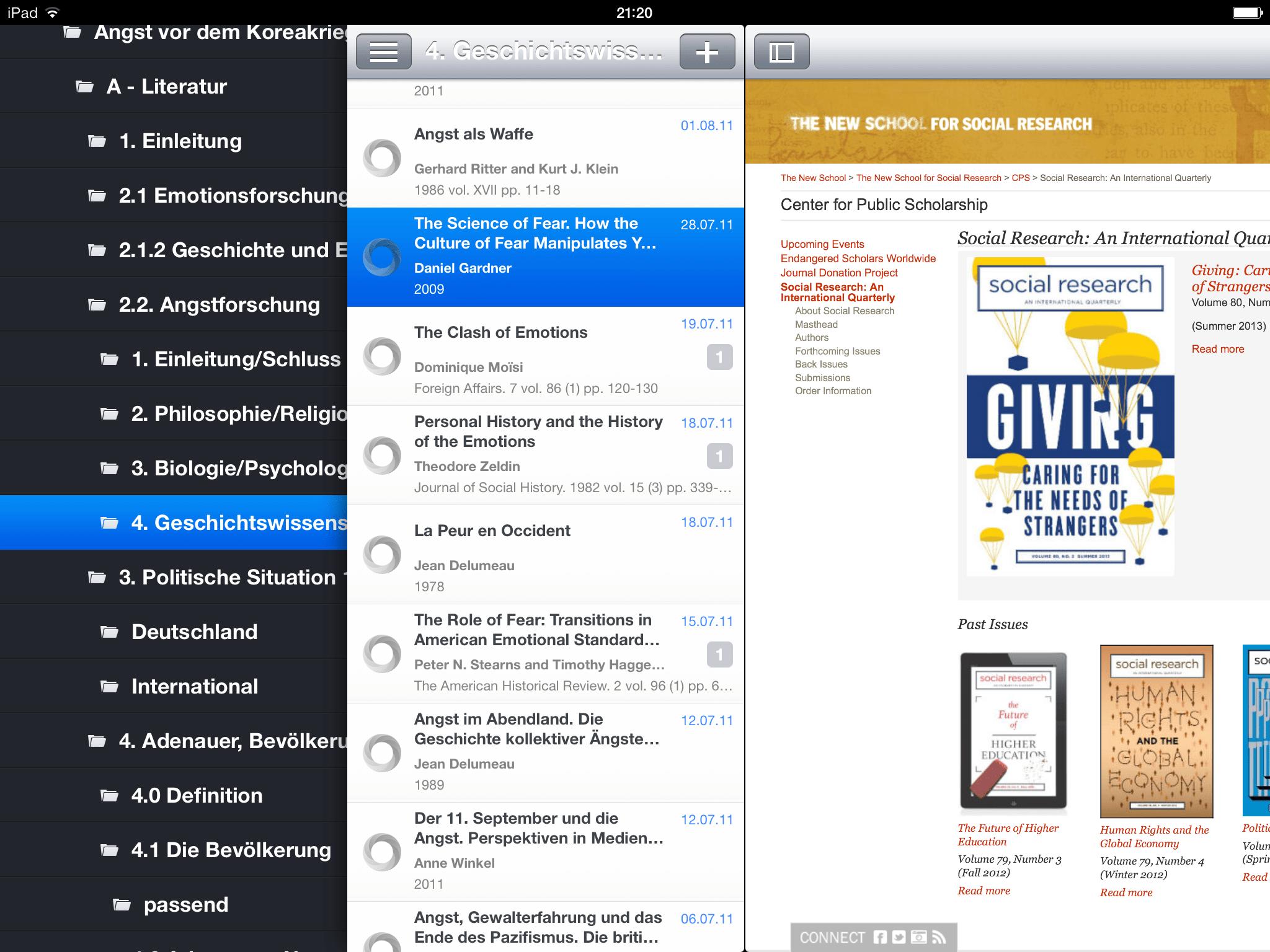 Apps für Zotero – Literaturverwaltung mit iPhone und iPad