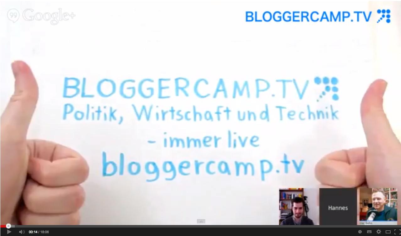 Live-Interview bei #BloggerCamp.tv zum Crowdfunding für die Suche nach den Nachkriegskindern