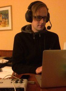 Daniel Meßner bei der Arbeit