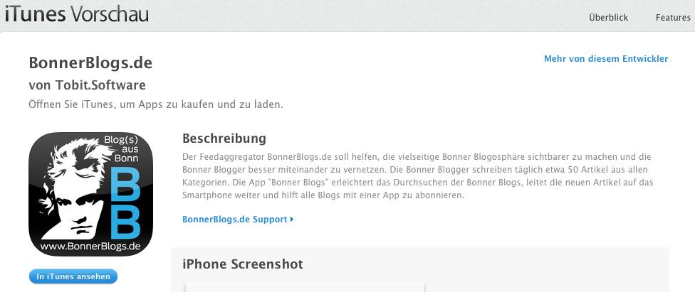 """""""App geht's"""" für die Bonner Blogs"""