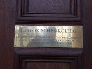 Workshoport war das Historisches Kolleg.