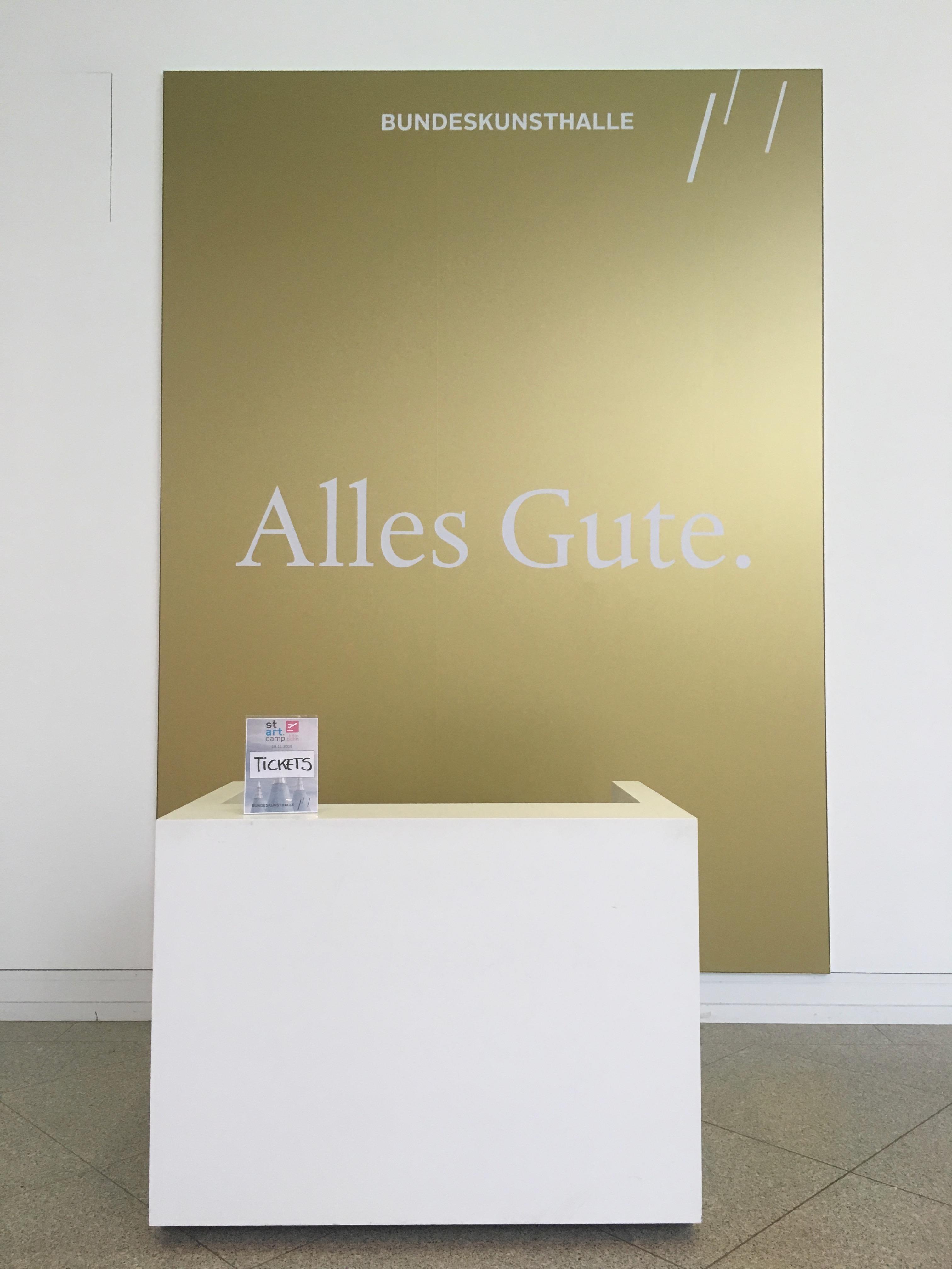 stARTcamp Köln-Bonn 2016 in der Bundeskunsthalle: Alles Gute!